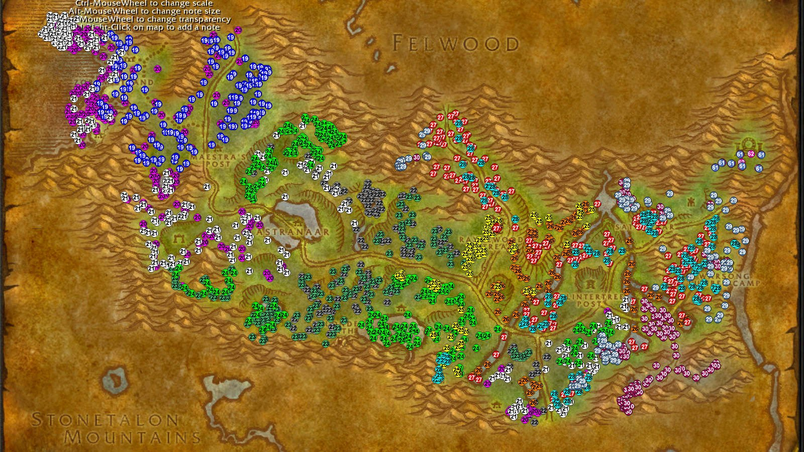 Ashenvale WoW classic leveling guide
