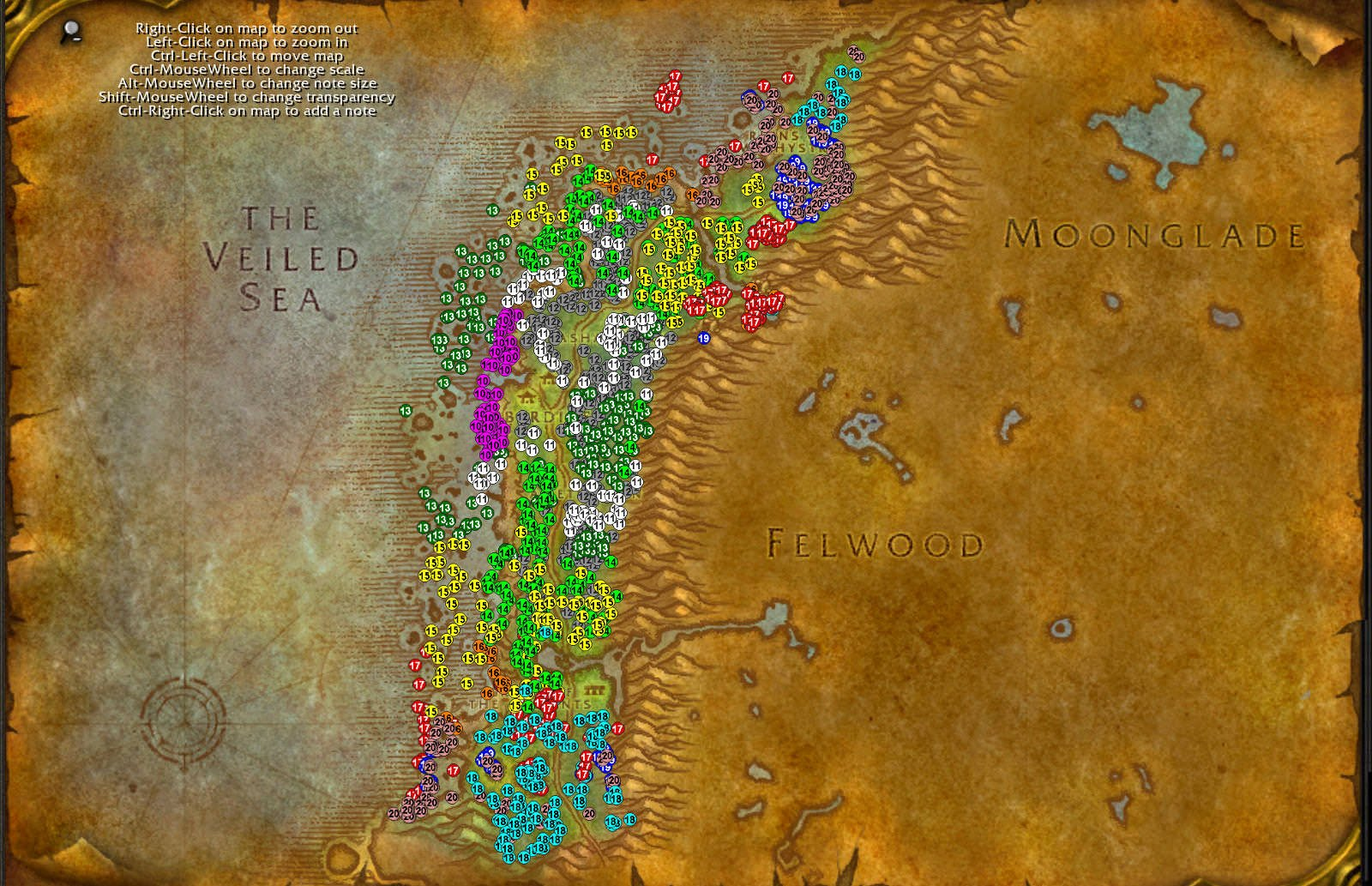 Darkshore WoW classic leveling guide