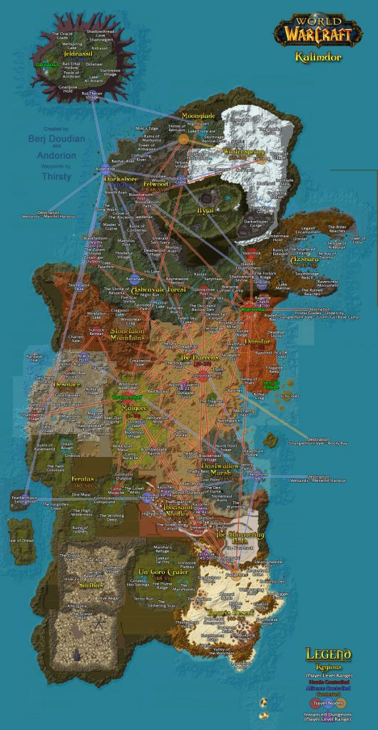 WoW Classic Travel Guide - Travelling Paths & Routes ...