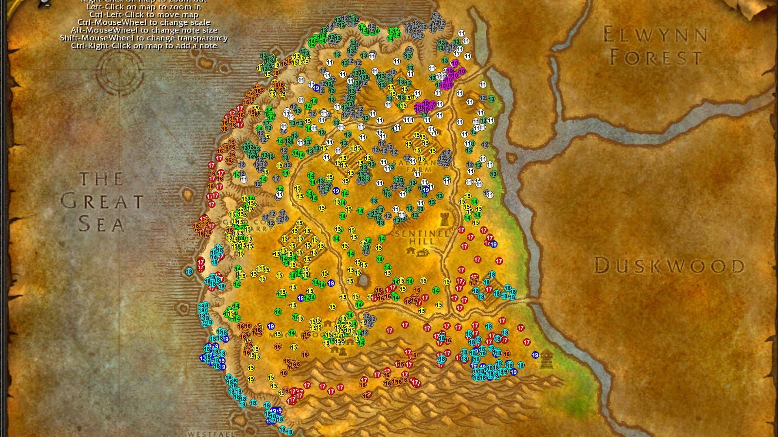 Westfall WoW classic leveling guide