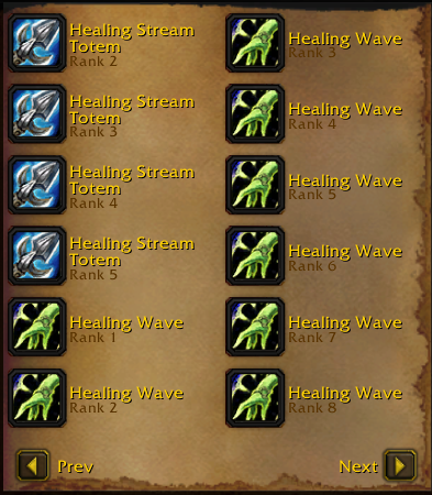 wow classic spell ranks