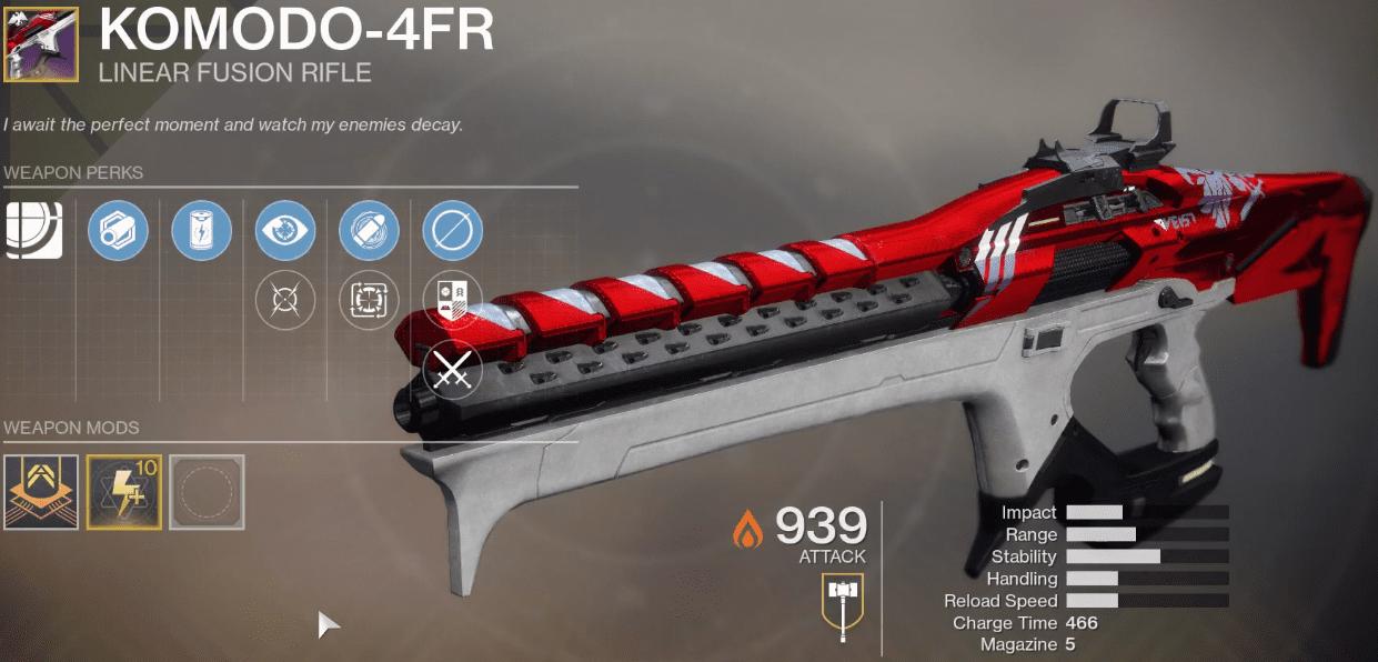 Komodo-4FR Ritual Linear Fusion rifle