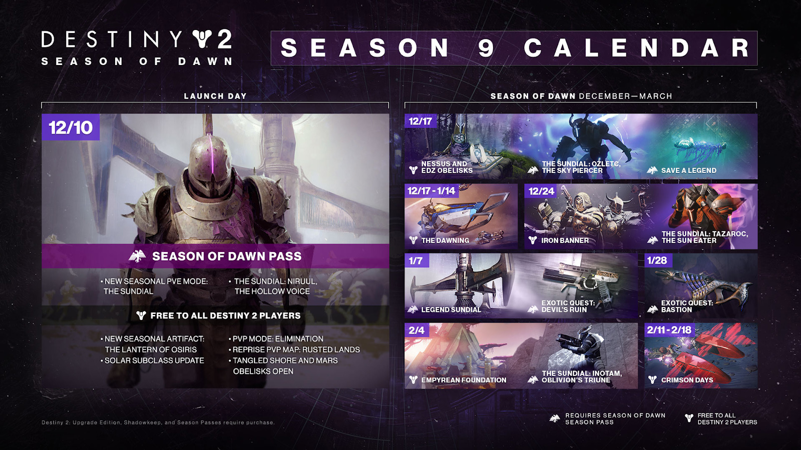 Season of Dawn Calendar