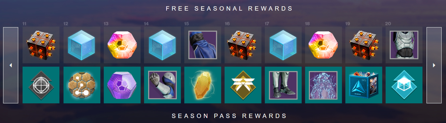 Season of Dawn Season Pass rewards