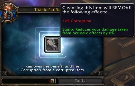Cleansing Corruption 8.3 patch