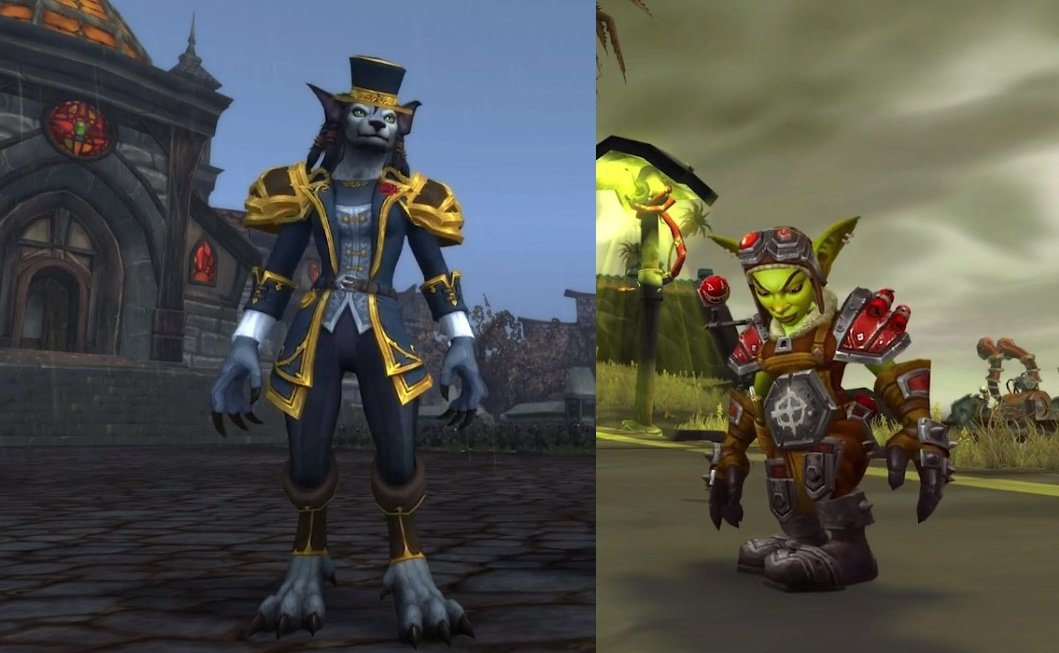 Heritage armor Goblin and worgen 8.3
