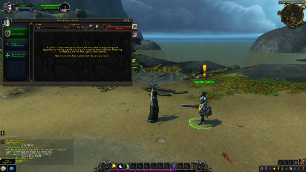 WoW Guilds interface in shadowlands for beginners