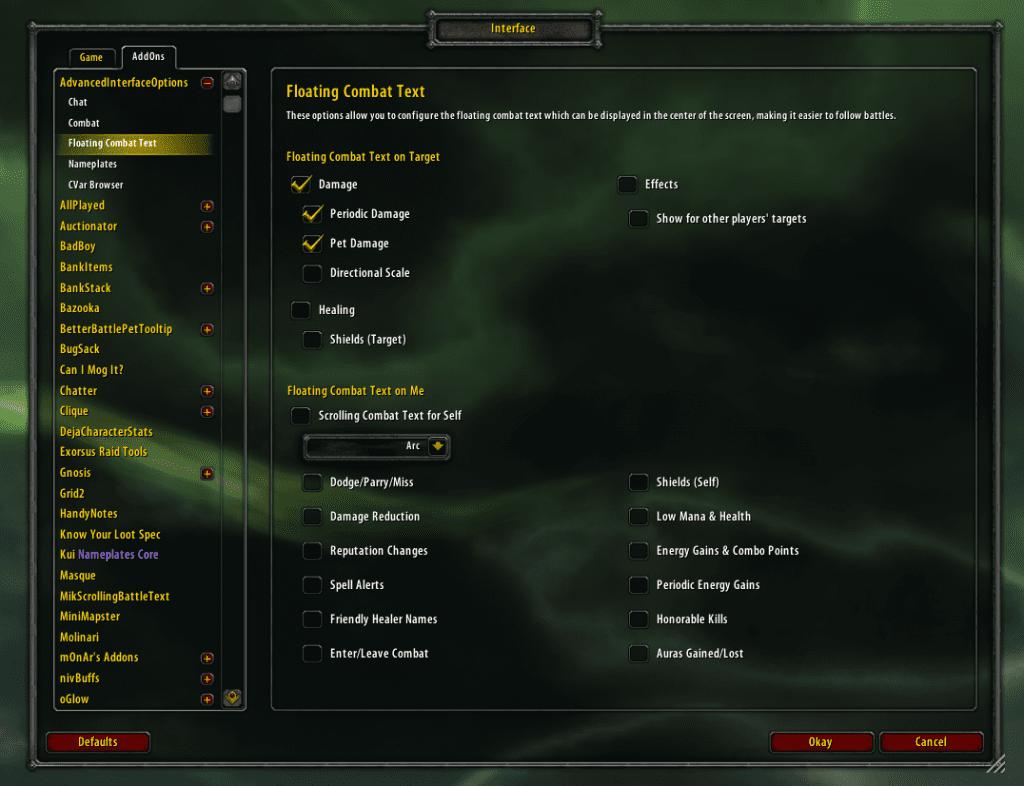 Advanced Interface Options