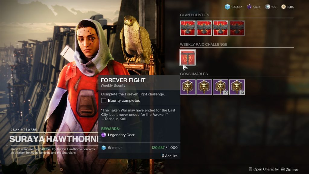 Hawthorne's Weekly Clan Challenges