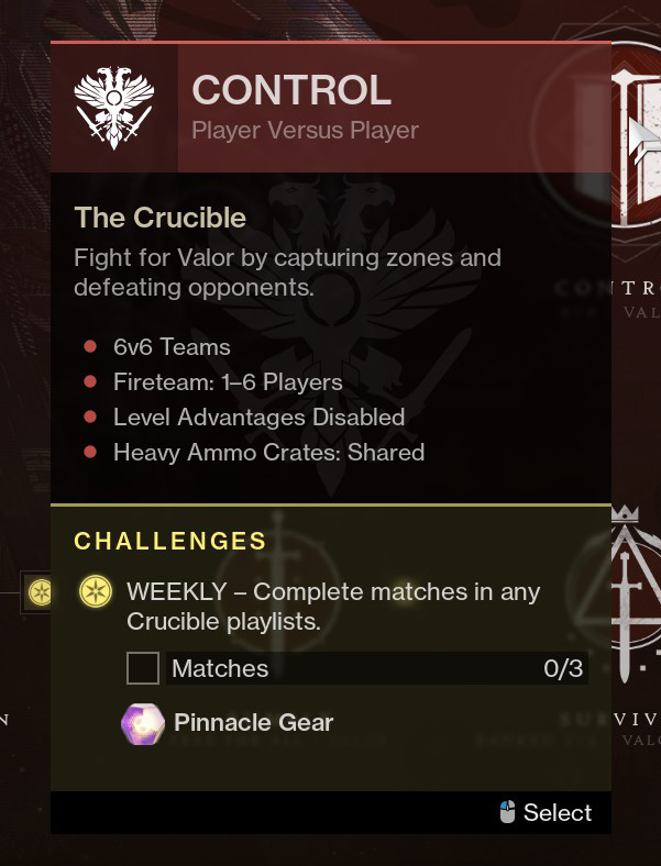 Where to get the Pinnacle Gear rewards