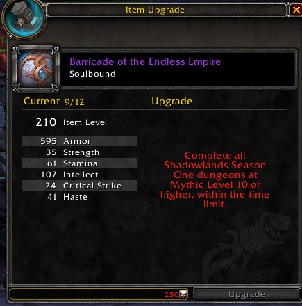 Upgrade Gear