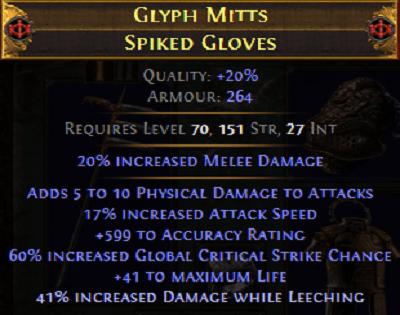 endgame gloves