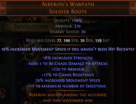 Alberon's Warpath